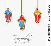 ramadan mubarak | Shutterstock . vector #270736103