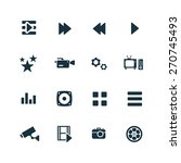 cinema icons set on white... | Shutterstock . vector #270745493