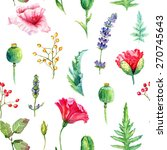 seamless pattern of watercolor... | Shutterstock . vector #270745643