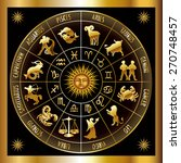 circle with signs of zodiac.... | Shutterstock .eps vector #270748457