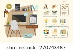 workplace for graphic design... | Shutterstock .eps vector #270748487