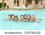 portrait of a happy family... | Shutterstock . vector #270754223
