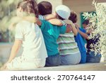 group of happy children from... | Shutterstock . vector #270764147