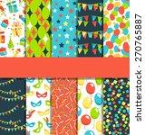 set of 10 seamless bright fun...   Shutterstock .eps vector #270765887
