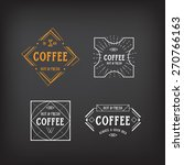coffee menu logo template... | Shutterstock .eps vector #270766163