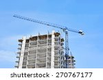 crane and building construction ... | Shutterstock . vector #270767177
