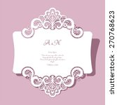elegant lace greeting card ... | Shutterstock .eps vector #270768623