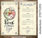 pizzeria menu. best template... | Shutterstock .eps vector #270771293