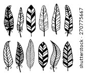 hand drawn feathers. | Shutterstock .eps vector #270775667