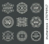 retro design luxury insignias... | Shutterstock .eps vector #270795917