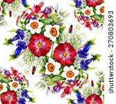 garden watercolor floral... | Shutterstock . vector #270803693