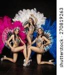 three beautiful women in...   Shutterstock . vector #270819263