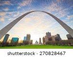 City of St. Louis skyline at twilight.