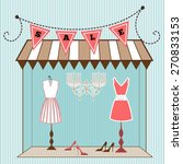 boutique storefront  | Shutterstock .eps vector #270833153