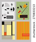 vector  business brochure cover ... | Shutterstock .eps vector #270833213