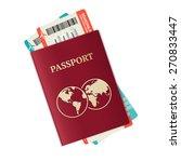 vector illustration passport...