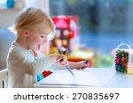cute little child  blonde... | Shutterstock . vector #270835697