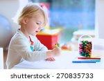 cute little child  blonde... | Shutterstock . vector #270835733