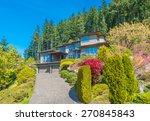 big custom made luxury house... | Shutterstock . vector #270845843