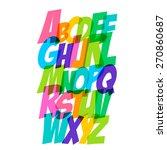 comics style alphabet... | Shutterstock .eps vector #270860687