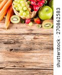 garden concept  fresh fruits... | Shutterstock . vector #270862583