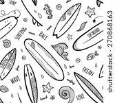 black ink hand drawn surfing... | Shutterstock .eps vector #270868163