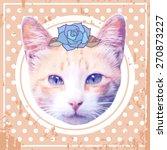 vector vintage fashion cat | Shutterstock .eps vector #270873227