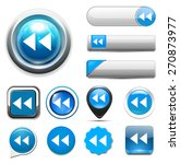 media  player button icon | Shutterstock .eps vector #270873977