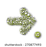 vector illustration of doted...