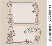 frame swirling decorative... | Shutterstock .eps vector #270880463