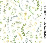 pattern of flowers and grasses... | Shutterstock . vector #270881447