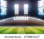 green soccer field  bright... | Shutterstock . vector #270881627
