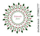 floral wreath. invitation ... | Shutterstock .eps vector #270881777