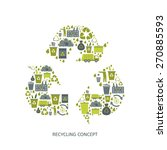 recycling garbage icons concept....   Shutterstock .eps vector #270885593