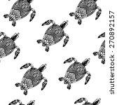 vector pattern with tortoises... | Shutterstock .eps vector #270892157