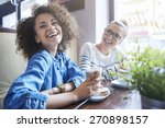 laugh is way for happiness  | Shutterstock . vector #270898157