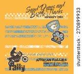 desert motorcycle rally  vector ... | Shutterstock .eps vector #270899933