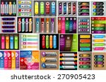 colorful modern text box... | Shutterstock .eps vector #270905423