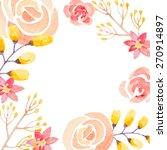 invitation card for wedding... | Shutterstock .eps vector #270914897