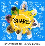 share sharing connection online ... | Shutterstock . vector #270916487