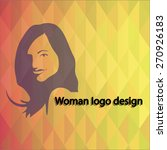 icon of logo woman. isolated on ... | Shutterstock .eps vector #270926183