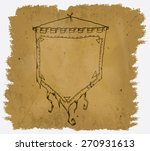 a worn parchment with a design... | Shutterstock .eps vector #270931613