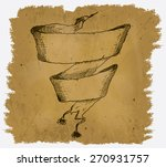 a worn parchment with a design... | Shutterstock .eps vector #270931757