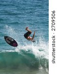 young man skimboarding in the... | Shutterstock . vector #2709506