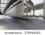 empty tunnel of modern city  | Shutterstock . vector #270966563