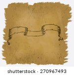 a worn parchment with a design... | Shutterstock .eps vector #270967493