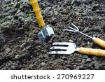 Garden Tools On Soil