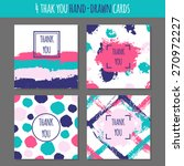set of thank you cards. hand... | Shutterstock .eps vector #270972227