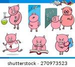 cartoon illustration of piglet... | Shutterstock . vector #270973523