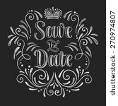 vector wedding design template... | Shutterstock .eps vector #270974807